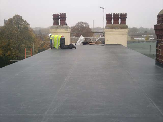 Flat Roof in EPDM