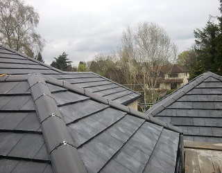 New Roof with Dry Ridge System